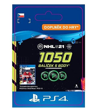 NHL 21: Ultimate Team 1050 Points - PS4 CZ Digital (SCEE-XX-S0050831)