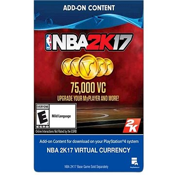 NBA2K17- 75,000 VC - PS4 HU Digital (SCEE-XX-S0032434)