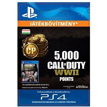 5,000 Call of Duty: WWII Points - PS4 HU Digital (SCEE-XX-S0035251)