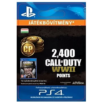2,400 Call of Duty: WWII Points - PS4 HU Digital (SCEE-XX-S0035258)
