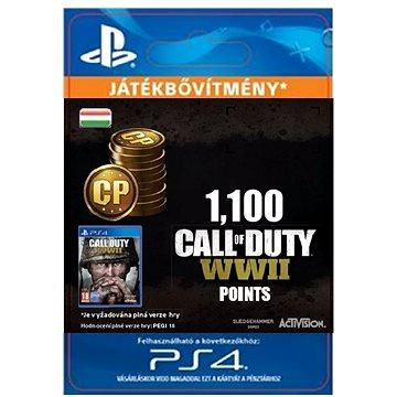 1,100 Call of Duty: WWII Points - PS4 HU Digital (SCEE-XX-S0035313)