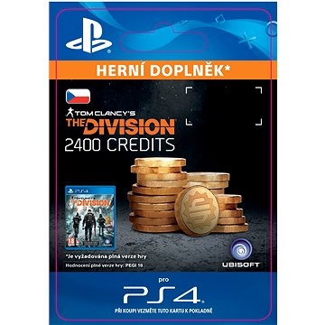 Tom Clancys The Division - 2400 Premium Credits Pack - PS4 SK Digital (SCEE-XX-S0030236)