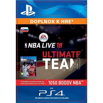 NBA Live 18 Ultimate Team - 1050 NBA points - PS4 SK Digital (SCEE-XX-S0034243)