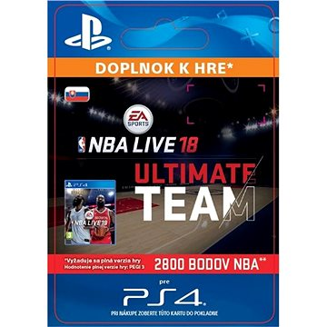 NBA Live 18 Ultimate Team - 2800 NBA points - PS4 SK Digital (SCEE-XX-S0034452)