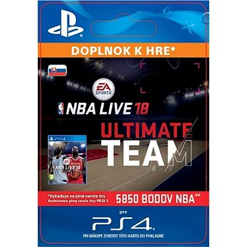 NBA Live 18 Ultimate Team - 5850 NBA points - PS4 SK Digital (SCEE-XX-S0034312)