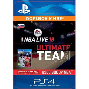 NBA Live 18 Ultimate Team - 8900 NBA points - PS4 SK Digital (SCEE-XX-S0034347)