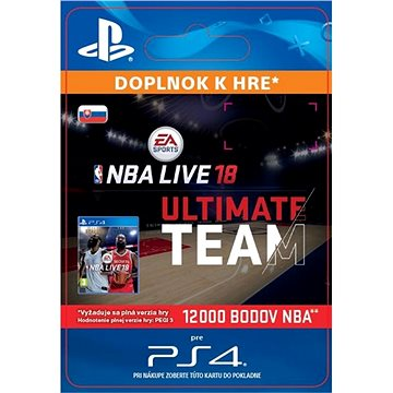 NBA Live 18 Ultimate Team - 12000 NBA points - PS4 SK Digital (SCEE-XX-S0034289)