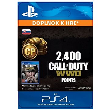 2,400 Call of Duty: WWII Points - PS4 SK Digital (SCEE-XX-S0035276)