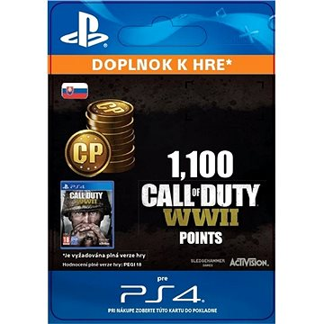 1,100 Call of Duty: WWII Points - PS4 SK Digital (SCEE-XX-S0035294)