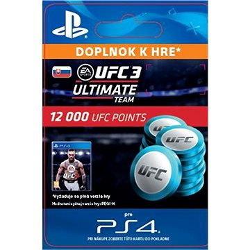 EA SPORTS UFC 3 - 12000 UFC POINTS - PS4 SK Digital (SCEE-XX-S0036713)