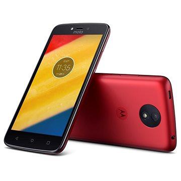 Motorola Moto C Plus Red (PA800118CZ) + ZDARMA Mobilní internet Twist Online Internet s kreditem 200 Kč Digitální předplatné Interview - SK - Roční od ALZY Digitální předplatné Týden - roční