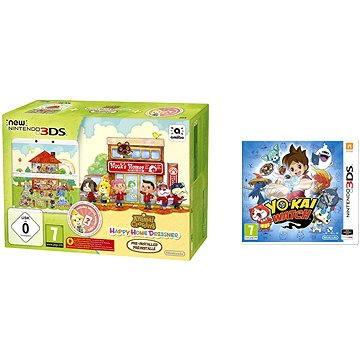 Nintendo NEW 3DS Animal Crossing HHD + YO-KAI WATCH (NI3H97026)