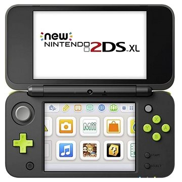 Nintendo NEW 2DS XL Black & Lime Green + Mario Kart 7 (NI3H97240)