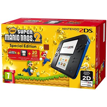 Nintendo 2DS Black & Blue + New Super Mario Bros. 2 (045496502492)