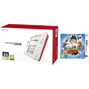 Nintendo 2DS (White Red) + YO-KAI WATCH (NI3H9400)