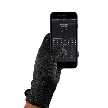 MUJJO Dvouvrstvé dotykové rukavice pro SmartPhone - velikost M - černé (MUJJO-GLKN-012-M)