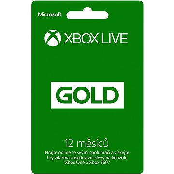 Microsoft Xbox Live 12 Month Gold Membership Card (52M-00544)