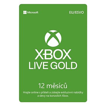 Microsoft Xbox Live 12 Month Gold Membership Card (S4T-00019)