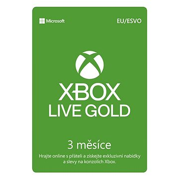 Microsoft Xbox Live 3 Month Gold Membership Card (S2T-00006)