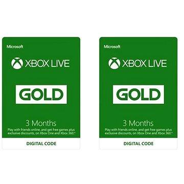Xbox Live Gold - 3 + 3 měsíční členství