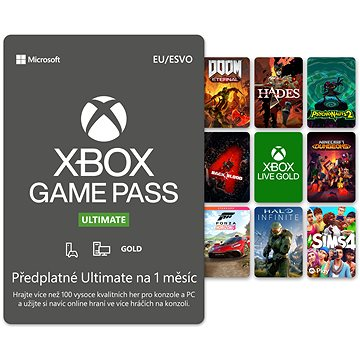 Xbox Game Pass Ultimate - 1 měsíční předplatné (QHW-00008)