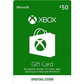 Microsoft Xbox Live Dárková karta v hodnotě 50 Eur (K4W-02563)