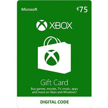 Microsoft Xbox Live Dárková karta v hodnotě 75 Eur (K4W-02564)