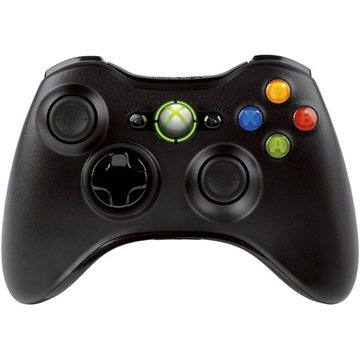 Microsoft XBOX 360 Wireless Controller Black New (NSF-00002)