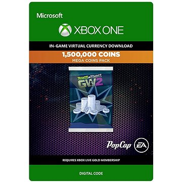 Plants vs. Zombies Garden Warfare 2: 1,500,000 Coins - Xbox Digital (7F6-00006)
