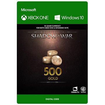 Middle-earth: Shadow of War – 500 Gold - (Play Anywhere) DIGITAL (7F6-00167)