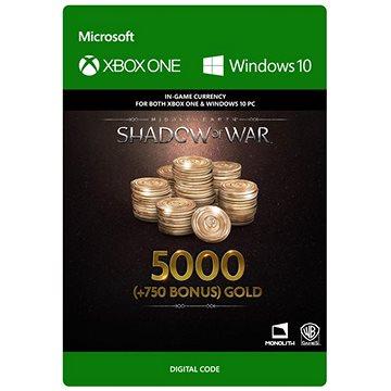 Middle-earth: Shadow of War – 5000 (+750 Bonus) Gold - (Play Anywhere) DIGITAL (7F6-00168)