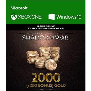 Middle-Earth: Shadow of War – 2000 (+200 Bonus) Gold - (Play Anywhere) DIGITAL (7F6-00163)
