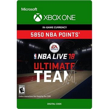 NBA LIVE 18: NBA UT 5850 Points Pack - Xbox One Digital (7F6-00140)