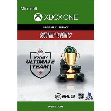 NHL 18 Ultimate Team NHL Points 5850 - Xbox One Digital (7F6-00148)