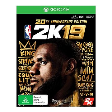NBA 2K19: 20th Anniversary Edition - Xbox One Digital (G3Q-00559)