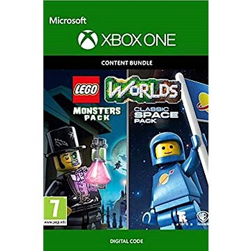 LEGO Worlds Classic Space Pack and Monsters Pack Bundle - Xbox One Digital (7D4-00276)