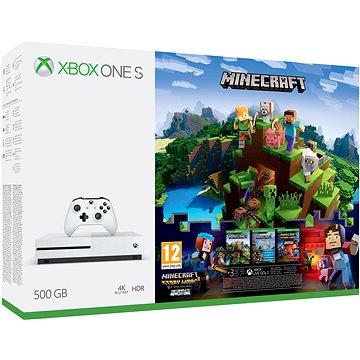 Microsoft Xbox One S 500GB Minecraft + Minecraft Story Mode 2 + 3 měsíční LIVE GOLD (ZQ9-00297)