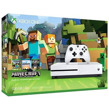 Microsoft Xbox One S 500GB Minecraft Edition (ZQ9-00047) + ZDARMA Zlatá členská karta pro Xbox Live! Microsoft Xbox Live 3 Month Gold Membership Card (Digitální kód) Gamepad Xbox One Wireless Controller White
