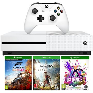 Xbox One S 1TB + Forza Horizon 4 + Assassins Creed Odyssey + Just Dance 2019