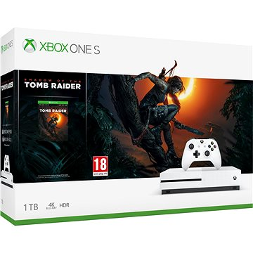 Xbox One S 1TB + Shadow of The Tomb Raider (234-00783)