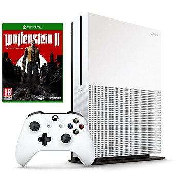 Xbox One S 500GB + Wolfenstein II: The New Colossus + ZDARMA Hra pro konzoli Steep & The Crew - Xbox One Dobíjecí kupón Microsoft Xbox Game Pass - kredit CZ