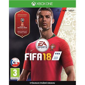 FIFA 18 - Xbox One (1034491) + ZDARMA Figurka - dárek k předobjednávce - Cristiano Ronaldo Herní doplněk Předobjednávkový bonus: 5 zlatých Jumbo balíčků / Cristiano Ronaldo na 5 zápasů / 8 spec. dresů