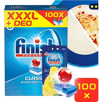 Tablety do myčky FINISH Classic Lemon 100ks + DEO Lemon (5997321733807)