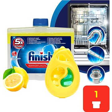 Čistič myčky FINISH Lemon 250 ml + DEO Lemon (5997321733838)
