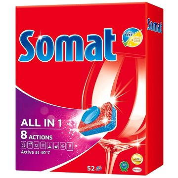 Tablety do myčky SOMAT All in One 52 ks (9000101019391) + ZDARMA Čistič myčky SOMAT Čistič myčky 1ks (při plné myčce)