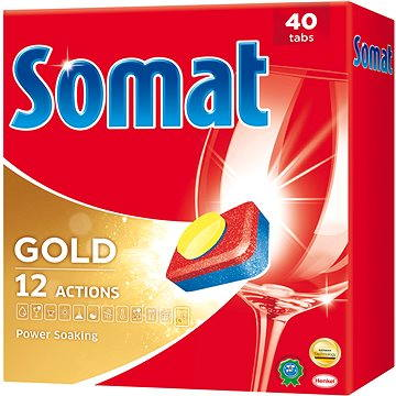 Tablety do myčky SOMAT Gold 40 ks (9000101067224) + ZDARMA Čistič myčky SOMAT Čistič myčky 1ks (při plné myčce)