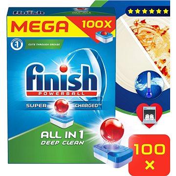Tablety do myčky FINISH All in 1 100 ks (5997321733784) + ZDARMA Sada SPONTEX smetáčková souprava