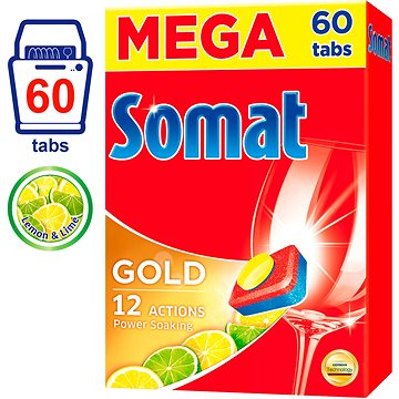 Tablety do myčky SOMAT Gold Lemon & Lime 60 ks (9000101074475)