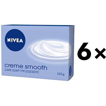 Sada NIVEA Creme Smooth Tuhé mýdlo 6x100g