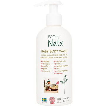 NATY ECO Baby Body Wash 200 ml (7330933245609)
